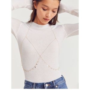 Urban Outfitters Celestial Icon body bra chain